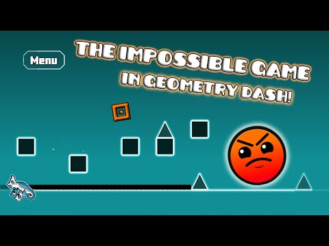 The Impossible Game in GD! | Fire Aura by BGames | Geometry Dash [2.0.1] (Online Levels)