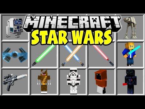 Minecraft STAR WARS MOD   LIGHTSABERS, BLASTERS, STARFIGHTERS, & MORE!!