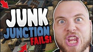 JUNK JUNCTION FUNNY FAILS!! - FORTNITE BATTLE ROYAL!!