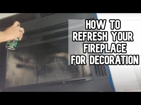 How to refresh the inside of your fireplace for decoration only DIY video #diy #fireplace