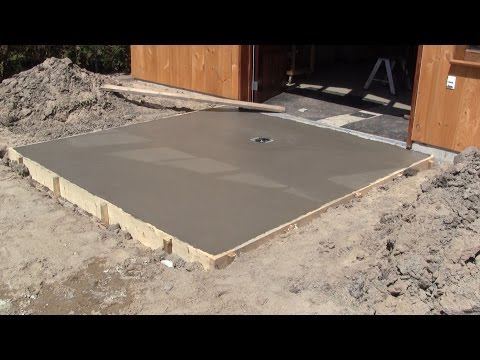 The Woodpecker Ep 86  - The Concrete Slabs in front of my shop's doors