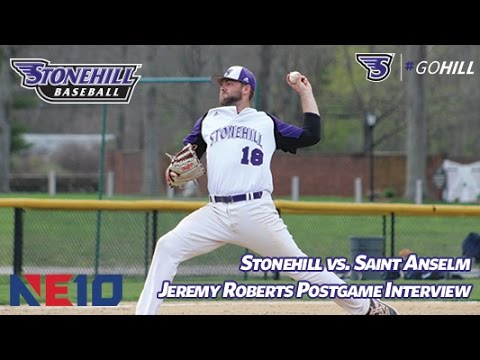 Stonehill College Baseball Team Earns a 8-1 Victory Over Saint Anselm College