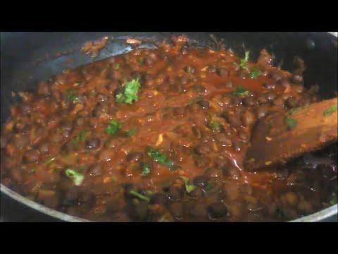 Dhaba Style Black Chana Masala - Kaala Chana Masala | Kale Chole Masala