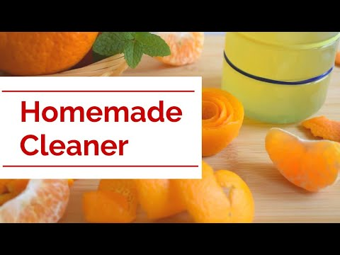Homemade All Purpose Cleaner | All Natural Orange Vinegar Cleaner | Citrus Peel Homemade Cleaner