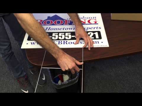 Installing Wire Frames into Yard Signs