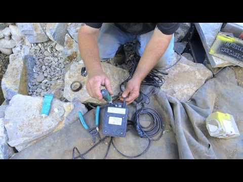 How to build a Fish Pond - Part 19 | Wiring Pond Lights
