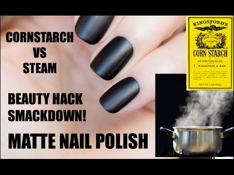 Beauty Hack SMACKDOWN! MATTE NAIL POLISH Cornstarch VS Steam | skip2mylou