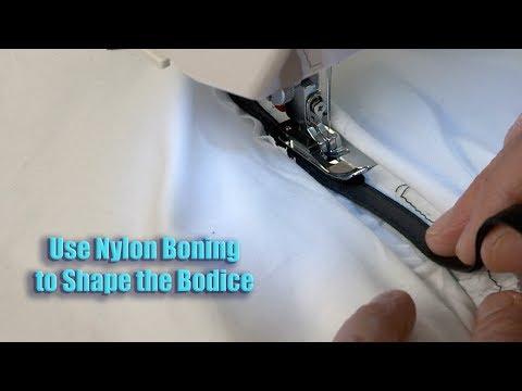 Prom Gown Sew Along 2017:  Use Nylon Boning to Shape Bodice