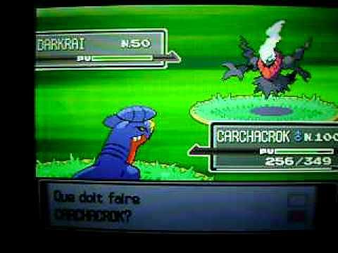 Capture de Darkrai dans  Pokémon Platine/ Catching Darkrai in Pokemon Platinum
