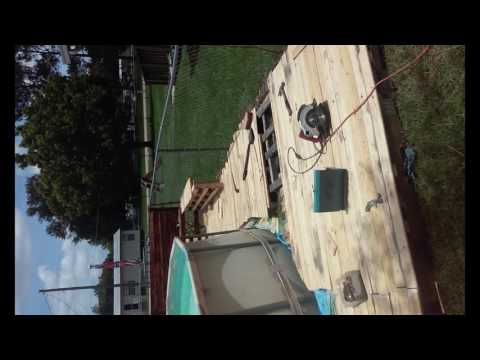 my pallet diy pool deck for free.