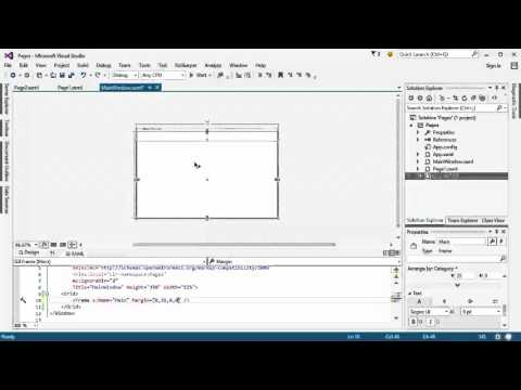 C# WPF and GUI - Pages and Navigation