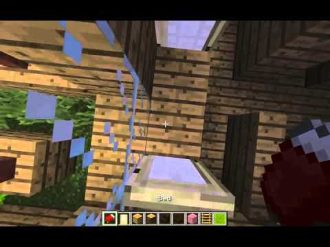 How to make a basic bunk bed - Minecraft