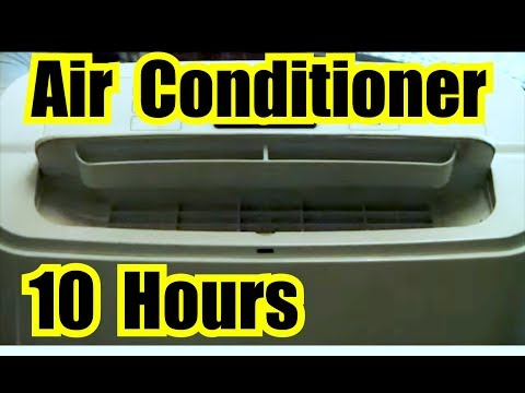 AIR CONDITIONER FAN NOISE 10 HOURS of AC WHITE NOISE w/ DARK SCREEN for SLEEPING