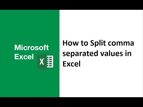 How to split comma separated values in excel, excel comma separated values to rows, comma delimited