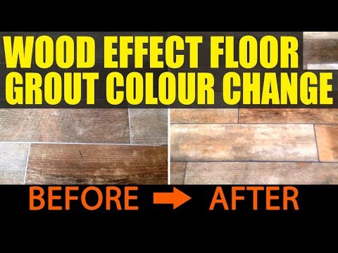 Changing the Colour of Grout on a Wood Effect Floor in Victoria Dock