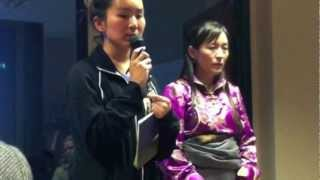 4/12,LHAMO TSO SPEAKS (with Eng. translation) about DHONDUP WANGCHEN, her husband