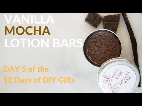 Vanilla Mocha Lotion Bars (DIY homemade gift idea)