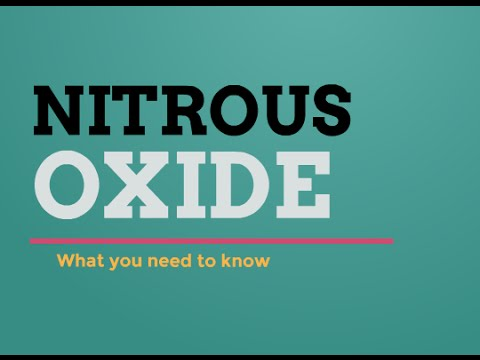 Nitrous Oxide: Laughing Gas