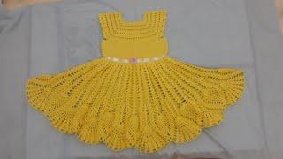 f507f8c82fa5 Vestido de crochê para princesa de 6 a 9 meses. - Sheila Croché ...