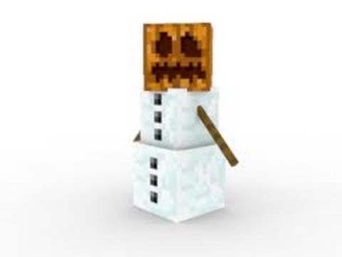 Minecraft xbox 360 tutorial snow golem statue