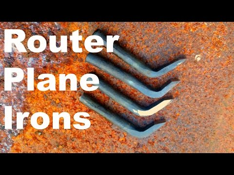 Making Router Plane Irons| Forging| made from coil spring