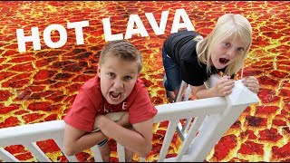 THE FLOOR IS LAVA at a Birthday Party!!