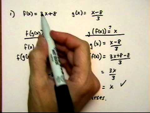 inverse functions 2 - determine whether two functions are inverses - (cr).mov
