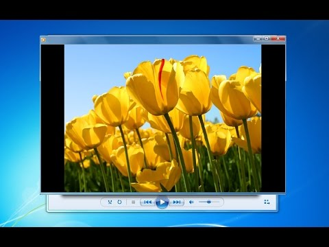 How to create slideshow with windows media player.