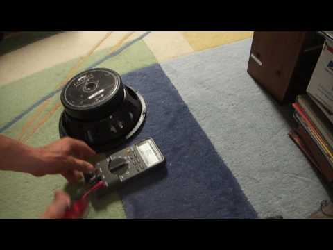 How to check Ohms impedance resistance on speaker woofer