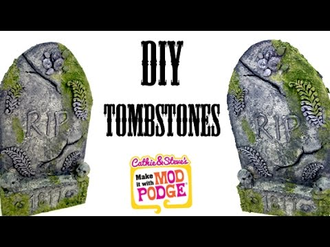 DIY Halloween Tombstone Yard Decorations