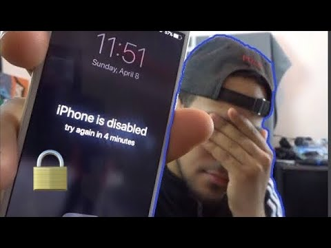 How to remove/reset any disabled or Password locked iPhones X & 8 7/7S/6S/6/Plus/SE/5s iPad or iPod
