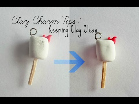 Clay Charm Tips #1: Cleaning Clay Before and After Baking