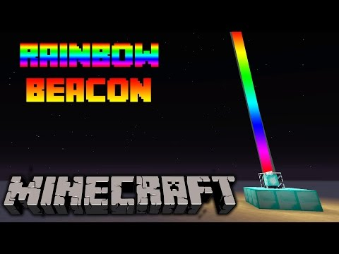 Minecraft - How to make a rainbow beacon