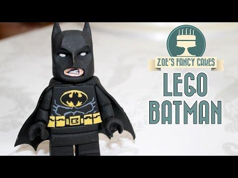 LEGO BATMAN CAKE TOPPER | fondant figure lego movie