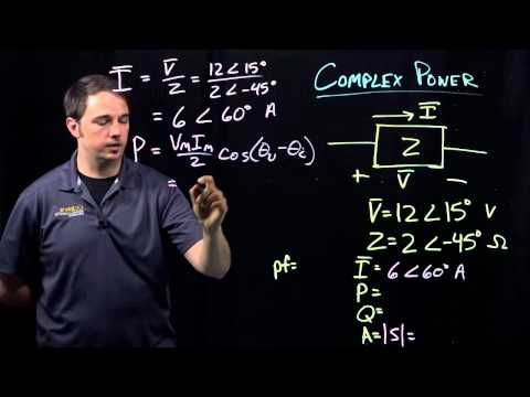 Circuits I: Example with Complex Power Calculations