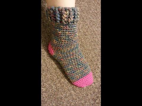 CROCHET How to #Crochet Cute & Quick Sock #TUTORIAL #180 LEARN CROCHET