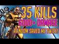 35 Kills 6000+ Damage Combined The Legend of Leafy! Apex Legends Viss w/ TannerSlays