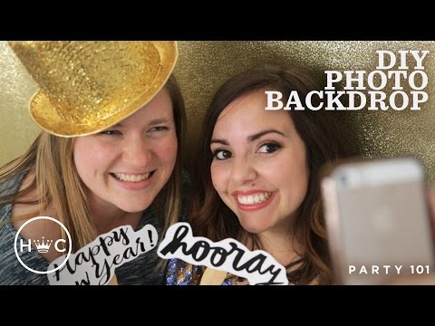 DIY Photo Backdrop | Party 101