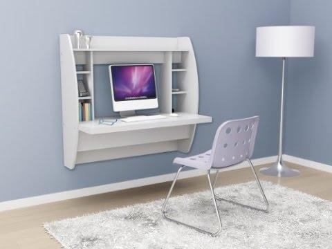 Prepac White Floating Desk with Storage | Best Computer Desk