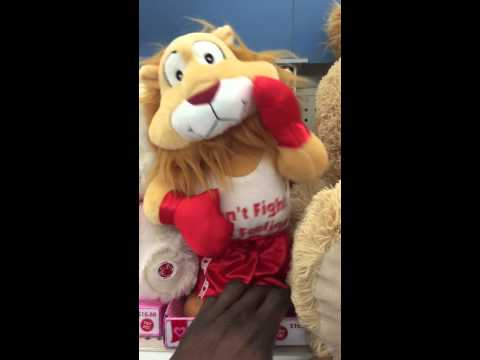 Dancing lion with boxing gloves
