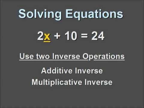 Solving a Single Variable Equation that contains a Coefficient and a Positive Constant.
