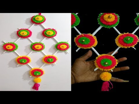 DIY wall hanging using woolen Home Decore idea Best Out of Waste Craft ideas