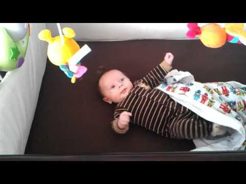 Hunter Loves His Crib Mobile