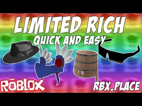 Roblox GET LIMITED ITEM RICH QUICK AND SAFE