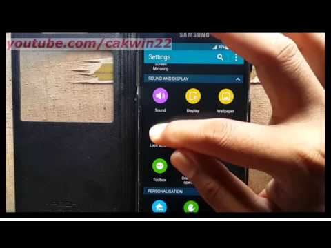 Samsung Galaxy S5 : How to change clock size in lock screen (Android Phone)