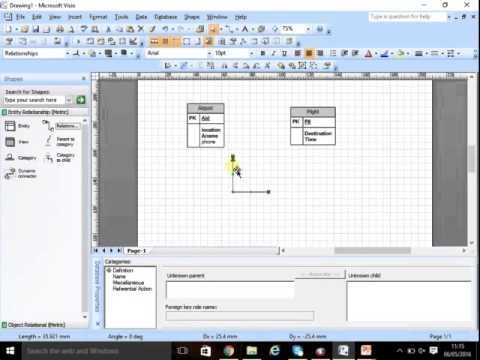 How to create ERD on Visio 2007 part 1