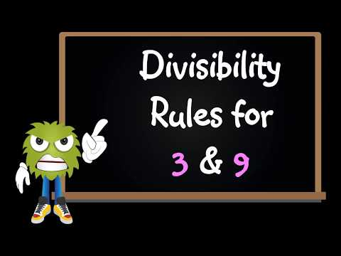 Divisibility rules for numbers divided by 3 and 9 video tutorial