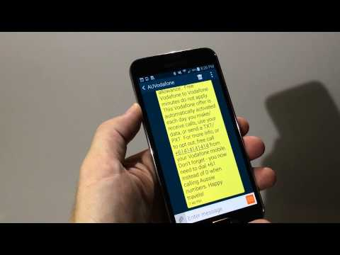 Changing the text size in SMS messages on a Samsung Galaxy SmartPhone