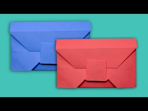 How to Make Envelope from a Square Color Paper Without Glue