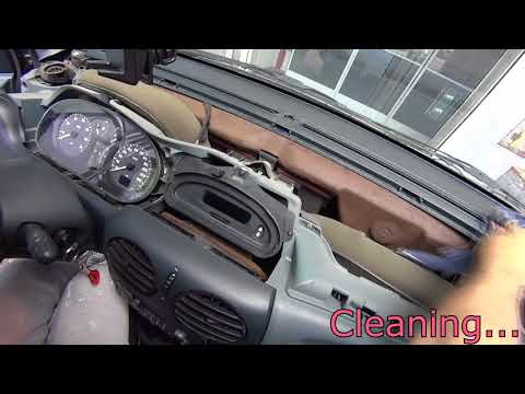 Renault Megane Scenic 1999 replace lights tablier radio dashboard